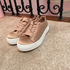 Rose gold sneakers NEW